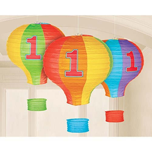 Hot Air Balloon Packages - 1st Birthday Hot Air Balloon Paper Lanterns (3 ct)