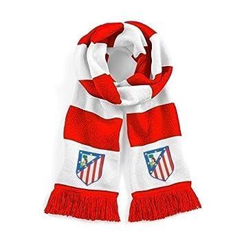 Retro ATLÉTICO DE MADRID AÑOS 60 Tradicional Bufanda de Fútbol Logo Bordado