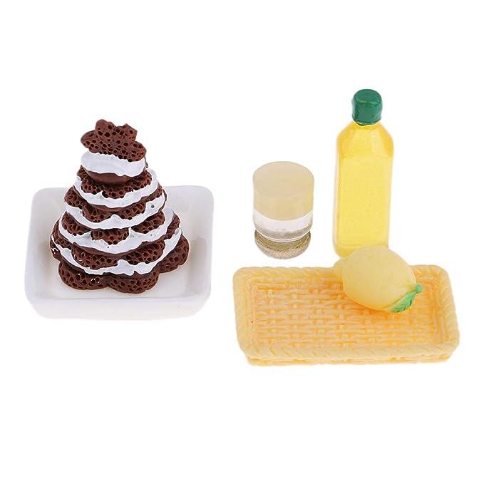 Amazon.es: KESOTO Cocina de Mañana Comida Pastel Cesta Botellas de Leche Modelo para Casa de Muñecas en Miniatura 1/12: Juguetes y juegos