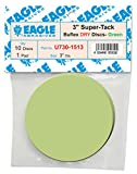 Eagle U730-1513 - 3 inch SUPER-TACK Mini Buflex DRY Discs - Green - (Job-Pak) - 10 Discs + 1 pad/Pack