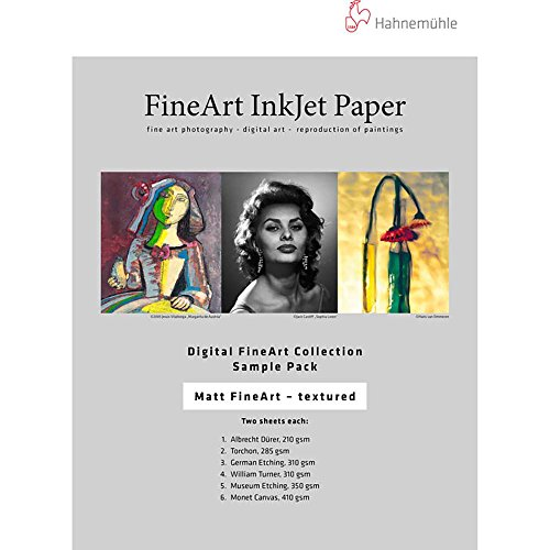 - Hahnemuhle Matte FineArt Textured Archival Inkjet Paper Sample Pack (8.5 x 11 i