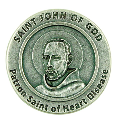 Lumen Mundi Patron Saint of Heart Disease St John of God Pocket Token with Prayer Back