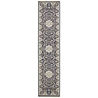 Unique Loom Nain Design Collection Navy Blue 3 x 13 Runner Area Rug (3 x 13)