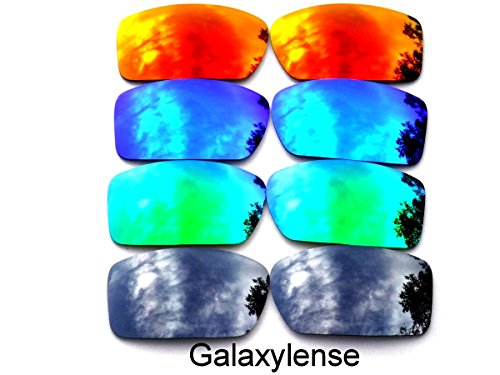 (Galaxy Replacement Lenses For Oakley Gascan Black&Green&Blue&Red Color Polarized 4)