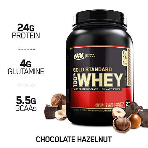 OPTIMUM NUTRITION GOLD STANDARD 100% Whey Protein Powder, Chocolate Malt, 2 Pound (Whey Nutrition Protein)