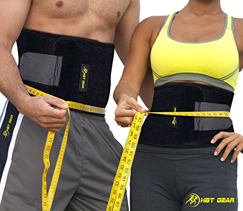 HBT Gear Waist Trimmer Stomach Wrap Ab Belt with carrying Ba