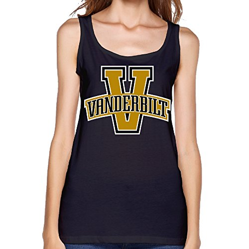 Women's NCAA Vanderbilt University Vandy Vanderbilt Commodores Logo Tank (Emerson Clothes Shaver)