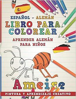 Libro Para Colorear Español Alemán I Aprender Alemán Para Niños I