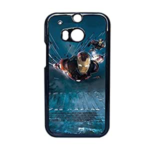 Print With Iron Man 2 Personalised Back Phone Case For Guys For Htc One M8 Choose Design 2