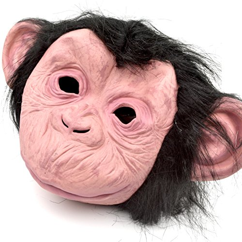 Monkey Mask - Realistic Planet of the Apes Style - Great for a 2017 Halloween (Makeup Ideas For Halloween 2017)