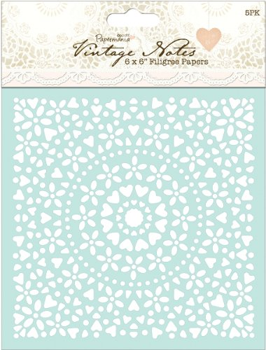 (Papermania Vintage Notes Filigree Papers 6