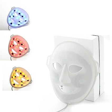 JL -LED Máscara Facial 3D Fototerapia Masaje Vibratorio Acné Blanqueo Equipo De Belleza 3 Colores