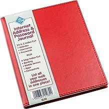 Internet Address & Password Journal Red