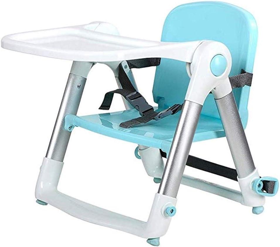 Byrhgood 幼児用の折りたたみ式ベビーチェア、3点式シートベルト、取り外し可能なトレイ (Color : Pink)