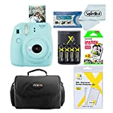Fujifilm Instax Mini 8 Instant Film Camera (Blue) With Fujifilm Instax Mini Instant Film Twin Pack (20 Sheets) + Compact Bag Case + Batteries & Battery Charger