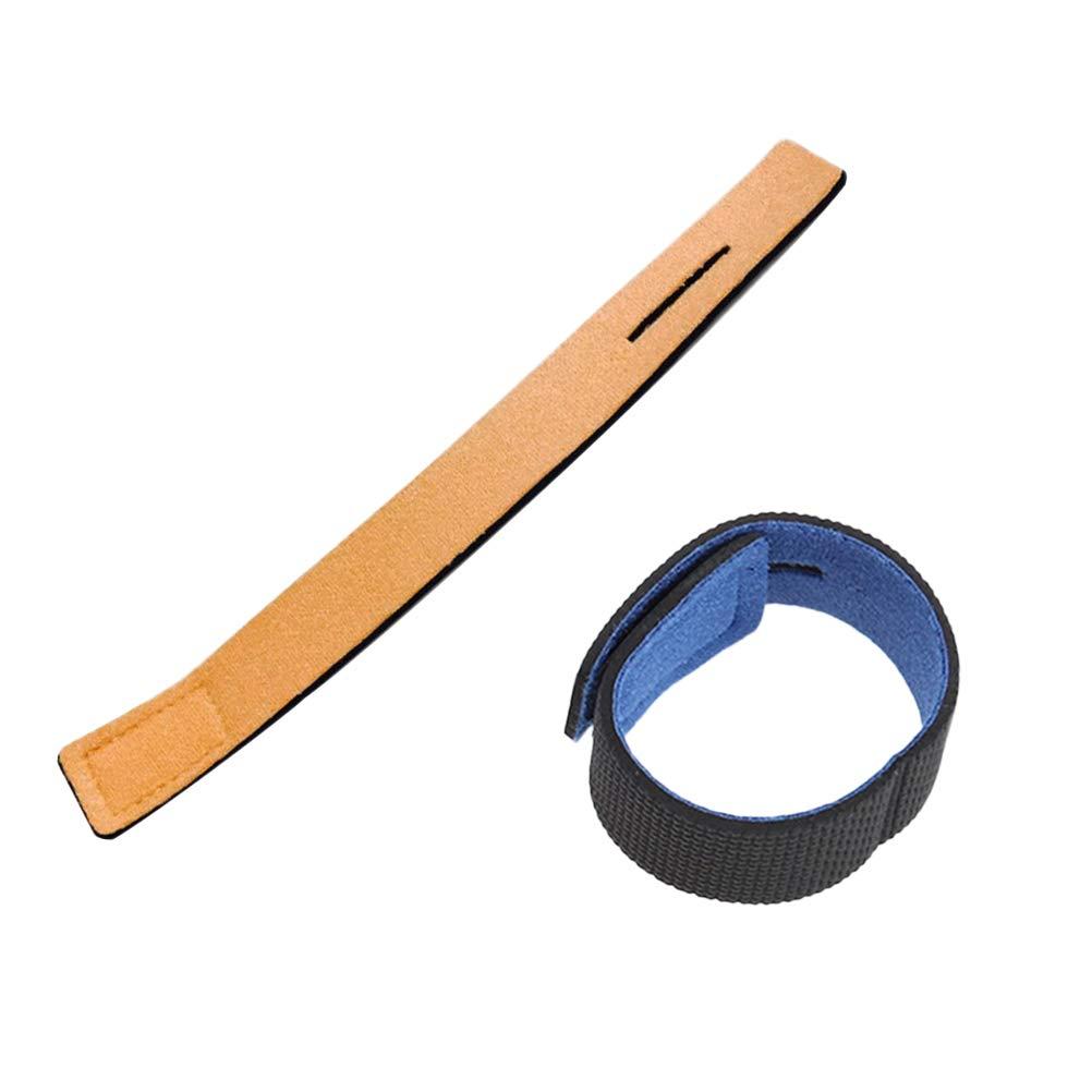 Clispeed 2pcs cinghie di fissaggio multiuso del ciclo adesivo cinghie anti-skid dispositivo di fissaggio cinghie di pesca cinghie cinghie cinghia del legame del cavo (blu e arancione)