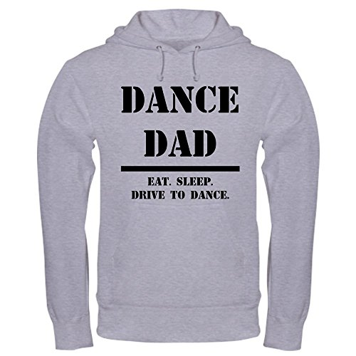CafePress Dance Dad Pullover Hoodie, Classic & Comfortable Hooded Sweatshirt Heather Grey ()
