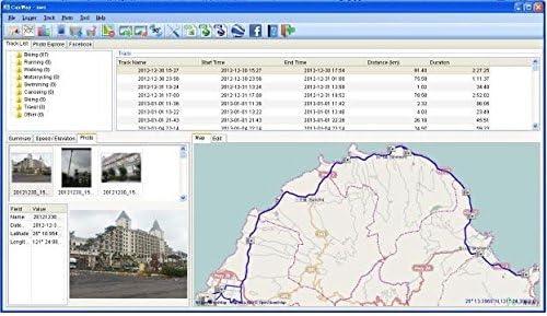 GT-730FL-S USB Antena GPS//registrador de datos de punto //con cable de alimentaci/ón USB Antena GPS//grabador//Photo tracker
