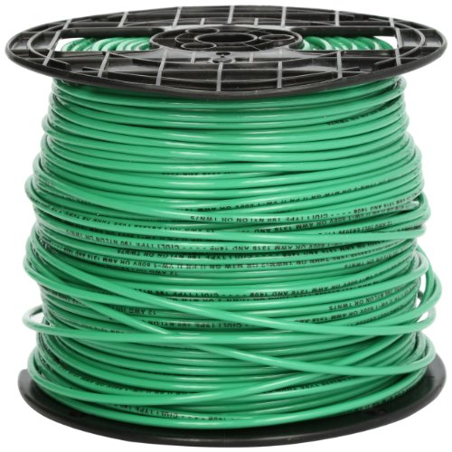 Southwire 22968201 Stranded THHN 12 Gauge Building Wire, 500-Feet, Green (Green Wire Thhn)