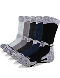 YUEDGE Men's 5 Pairs Wicking Cushion Outdoor Multi Performance Hiking Socks
