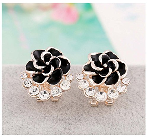 Mr Ribbt Fashion Big Temperament Exquisite Diamond Ear Clip Earrings Paint Earrings (Homemade Egyptian Costume For Boys)