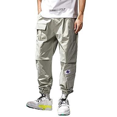 OSYARD-Pantalon de Carga para Hombre, Estilo Informal, para Correr ...