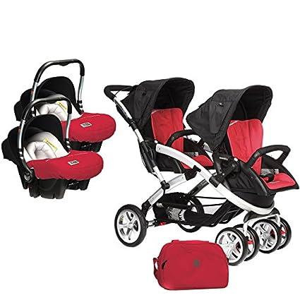 d18a66178 Casualplay Match 2 Stwinner - Pack de silla de paseo para gemelos, bolso y 2