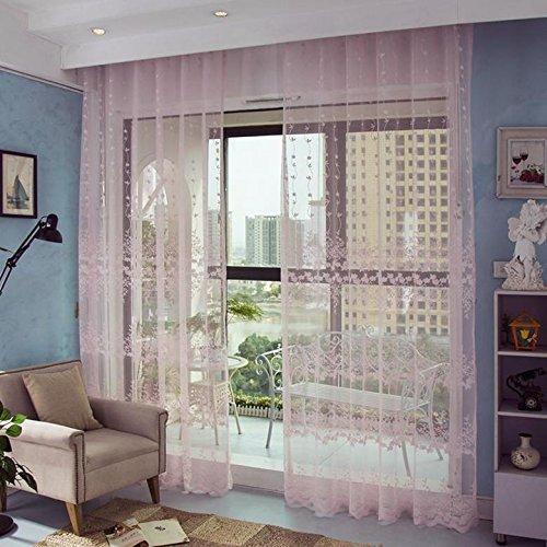 panneaux 2 110 pouces traitement de taille 78,7 pouces Rideaux de fenêtre transparente Premium Transparent Jacquard drapé