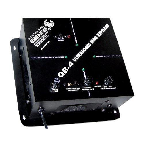 Bird-X Quadblaster QB4 Ultrasonic Bird Repeller, Covers 6,500 sq. ft.