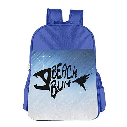 FUOALF Beach Bum Logo Kids Children Boys Girls Shoulder Bag School Backpack Bags