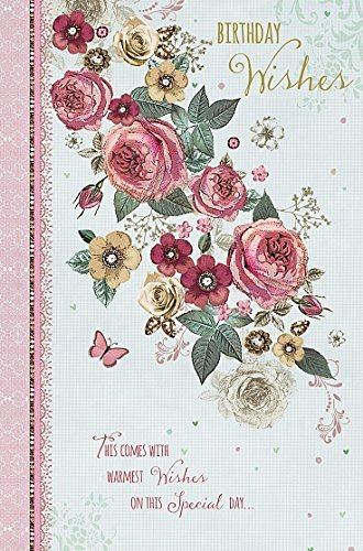 Birthday - Flower bouquet Female New Wishing Well Studios Greetings Card