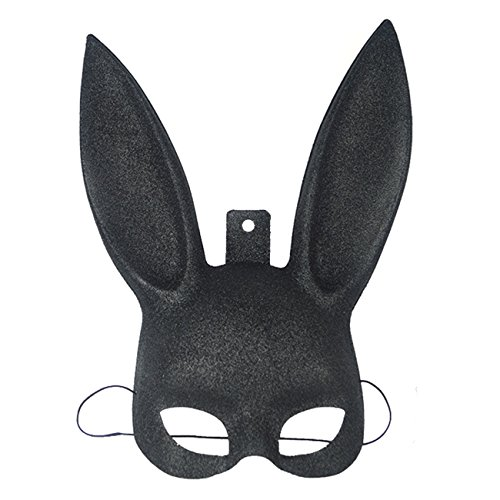Bloody Lion Costume (Halloween Sexy Bunny Rabbit Ears Mask Halloween Costume Masquerade Christmas Easter Gift Black Pink)