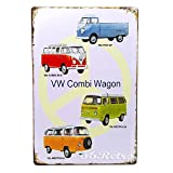 66Retro Volkswagen Combi Wagon, Vintage Retro Metal Tin Sign, Wall Decorative Sign, 20cm x 30cm