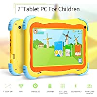 Yuntab Kids Tablet Q91 7 Inch Allwinner A33,1.3 Ghz Quad Core Google Android 5.1,Tablet PC,1G+8G,Dual Camera,WiFi,G-Sensor,Support SD/MMC/TF Card,Parental Control Software