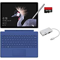2017 New Surface Pro Bundle (5 Items): Core m3 4GB RAM 128GB Tablet, New Surface Pen Platinum, Blue Type Cover (2016), 128GB Micro SD Card, Mini DisplayPort Adapter