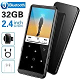"32GB MP3 Player, Supereye MP3 Player with Bluetooth 4.2, Music Player with FM Radio and Recording, 2.4"" Screen, HiFi Lossless Sound, Support up 64GB Expansion(Earphone, Sport Armband Included)"