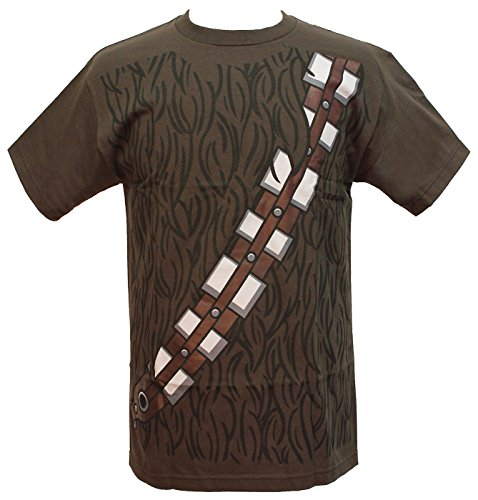 Star Wars I am Chewbacca Costume Adult Brown T-Shirt (XX-Large)]()