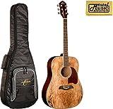 Oscar Schmidt OG2SM Acoustic Guitar - Spalted Maple w/Gigbag
