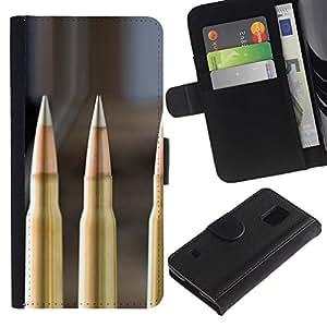 JackGot ( Proiettile ) Samsung Galaxy S5 V SM-G900 la tarjeta de Crédito Slots PU Funda de cuero Monedero caso cubierta de piel