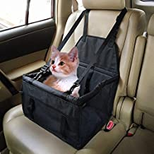 Dog car pad with a pet pad double thickened front car seat safety bag paragraph protection seat cover (black)