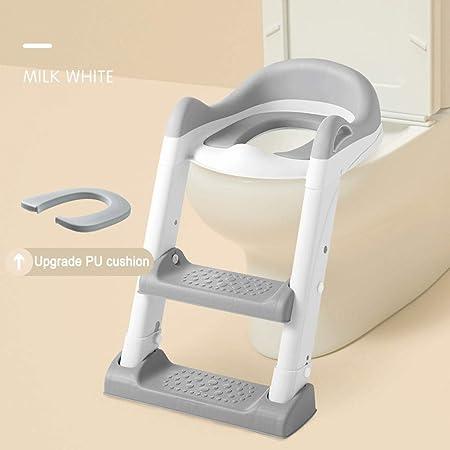 Aseo Escalera Asiento,Asiento Entrenamiento Insignificante con El Paso De Heces Escalera, La Escalera del Cojín De Asiento De Inodoro WC Niño For IR Al Baño del Tocador De La Escalera del Bebé:
