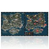 Imegny Extended Gaming Mouse Pad, PUBG Island Map Mat for High DPI Professional Gaming Quality