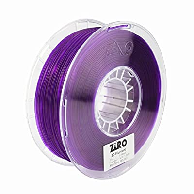 ZIRO 3D Printer Filament PLA 1.75 1KG(2.2lbs), Dimensional Accuracy +/- 0.05mm, Translucent purple