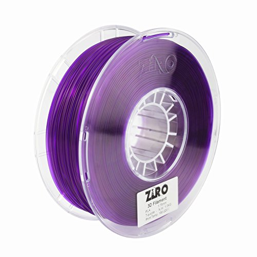 ZIRO 3D Printer Filament PLA 1.75 1KG(2.2lbs), Dimensional Accuracy +/- 0.05mm, Translucent Purple by ZIRO