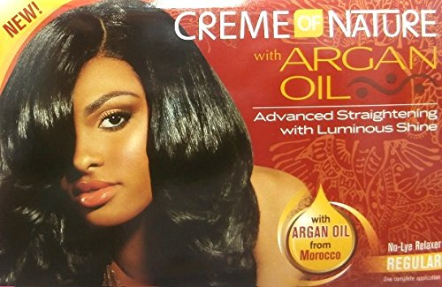 Relaxer/smoothing cream of nature with argan oil relaxer regular Creme of Nature