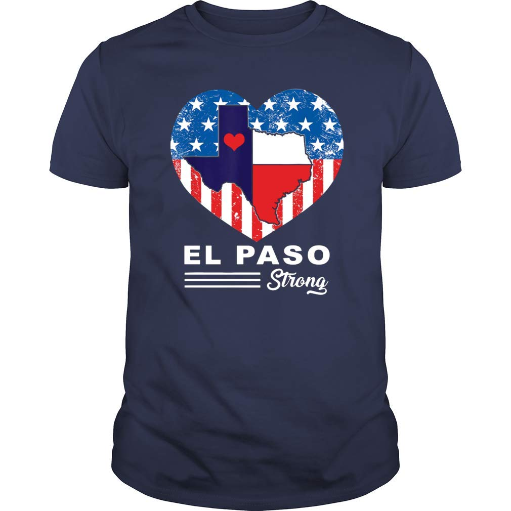 El Paso Strong Heart Texas Shooting Support T Shirt