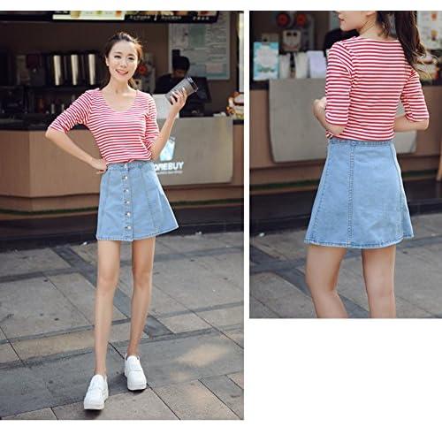7af7e0842b91 60%OFF Jutao Women's Denim Button-through Pencil A line Ripped Bodycon Skirt