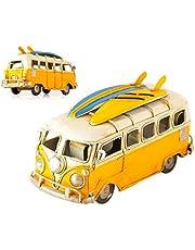 SCSpecial - Camper Van de Juguete de 6,3 Pulgadas, Estilo Retro, metálico, clásico, T1, para Caravana, Playa, autobús, Modelo de Juguete
