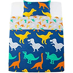 Sandyshow 3PC Dinosaur Bedding For Boys And Girls Full/Queen Microfiber Duvet Cover Set (Full/Queen (Dinosaur))