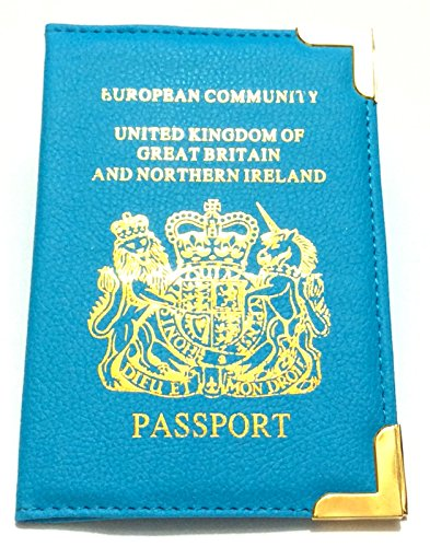 New UK Passport Holder Protector Cover /& European Passport Holder Protector Cover Wallet PU Leather Passport Cover by REAL ACCESSORIES Travel Document Safety Cover Blue